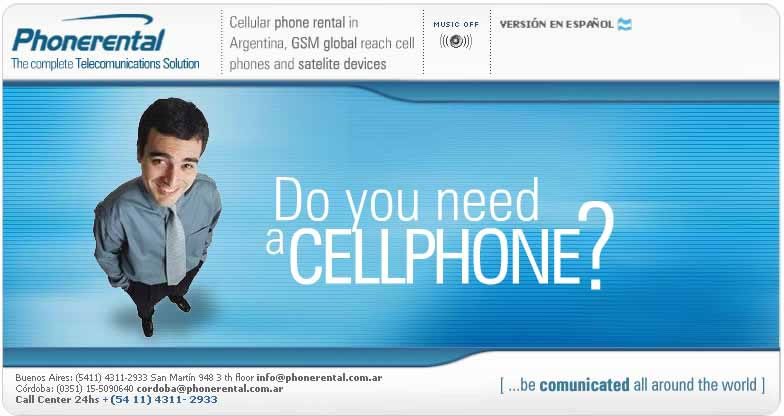Argentina cell Phone rental company: Phonerental